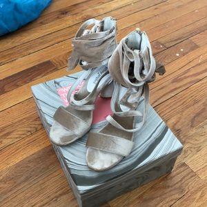 Jeffrey Campbell velvet heels
